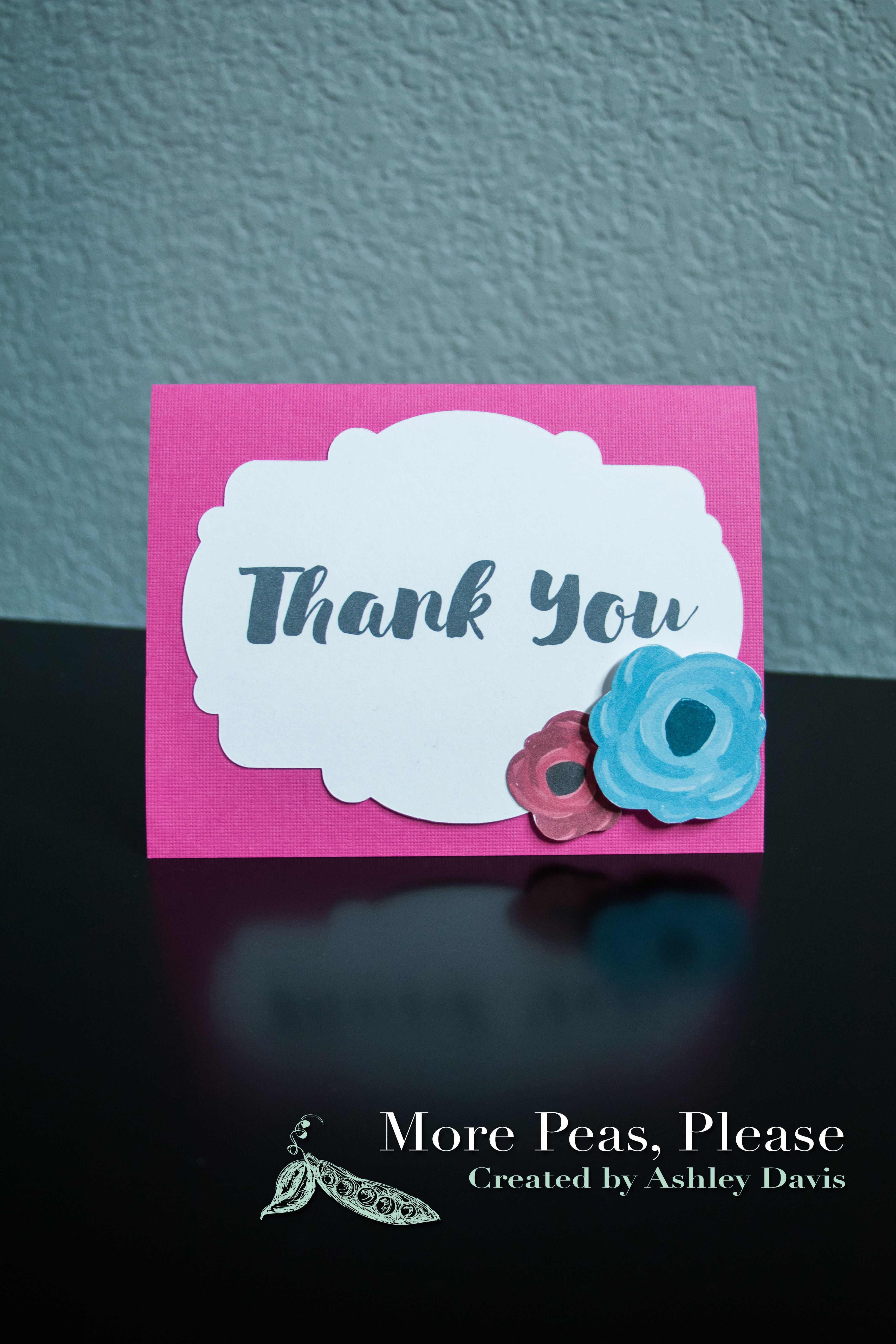 Thank You Card Made By More Peas Please Found On Facebook