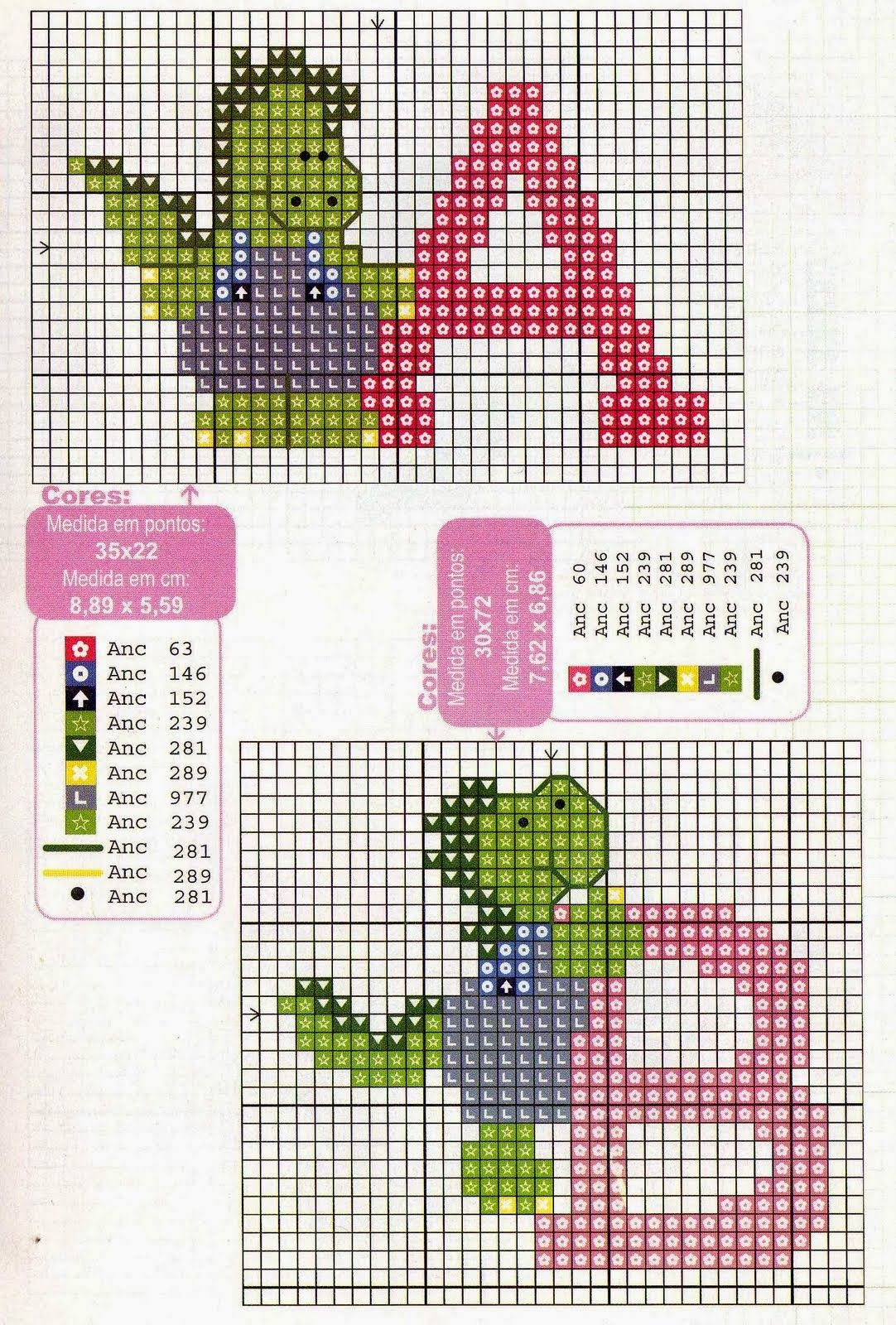Alfabeto con dinosaurios, para punto de cruz. | Dinosaurios ...
