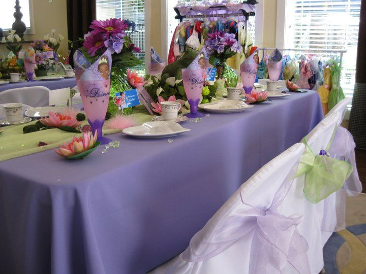 Princess and the Frog set up | Princess and the Frog Party ...