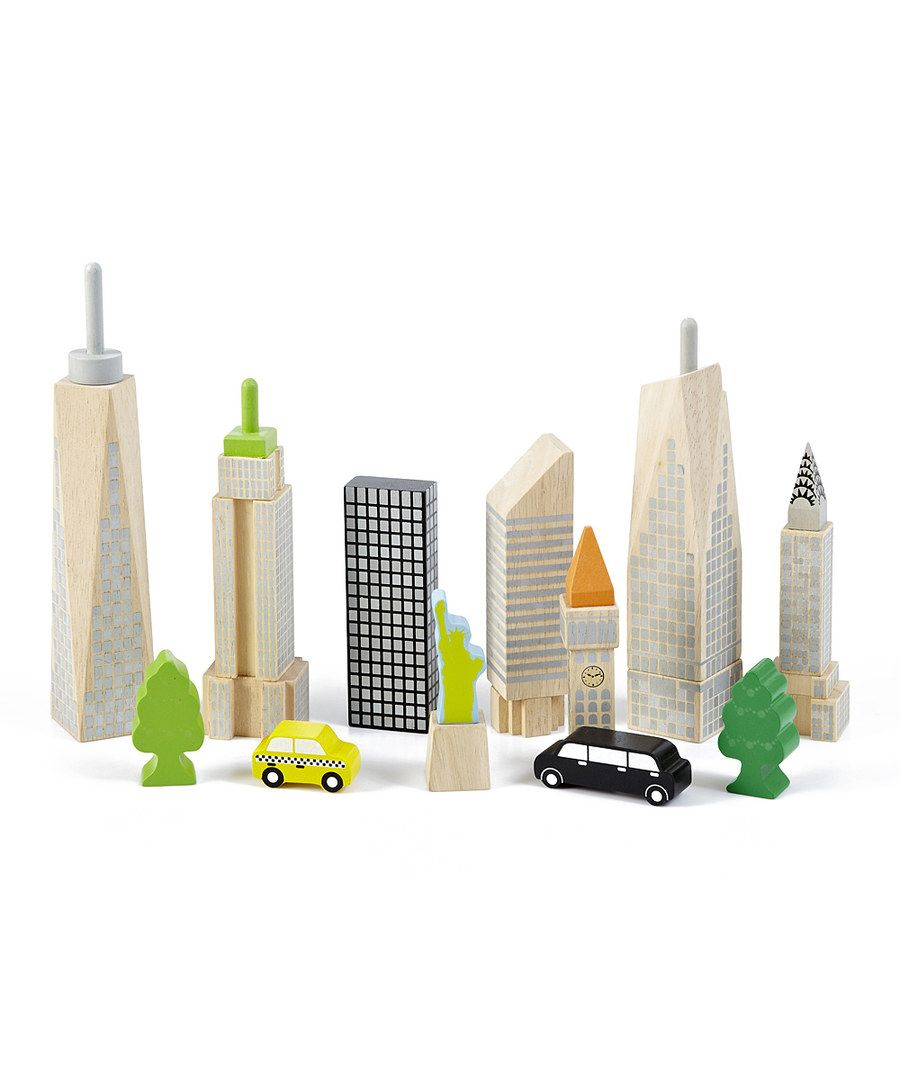Look at this City Skyline Glow Block Set on #zulily today!