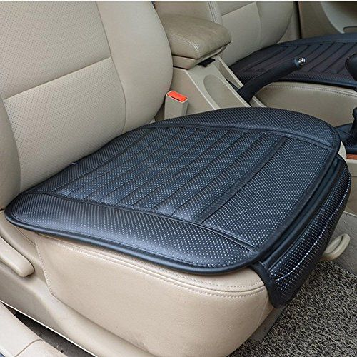 Black PU Leather Breathable Bamboo Charcoal Car Chair Cover Seat Pad Cushion Mat