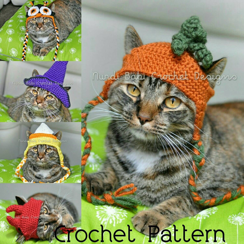 Nurdi babi cat hats vol 1 halloween edition cat hat crochet 1 halloween edition cat hat crochet patterns pet hat by bankloansurffo Choice Image