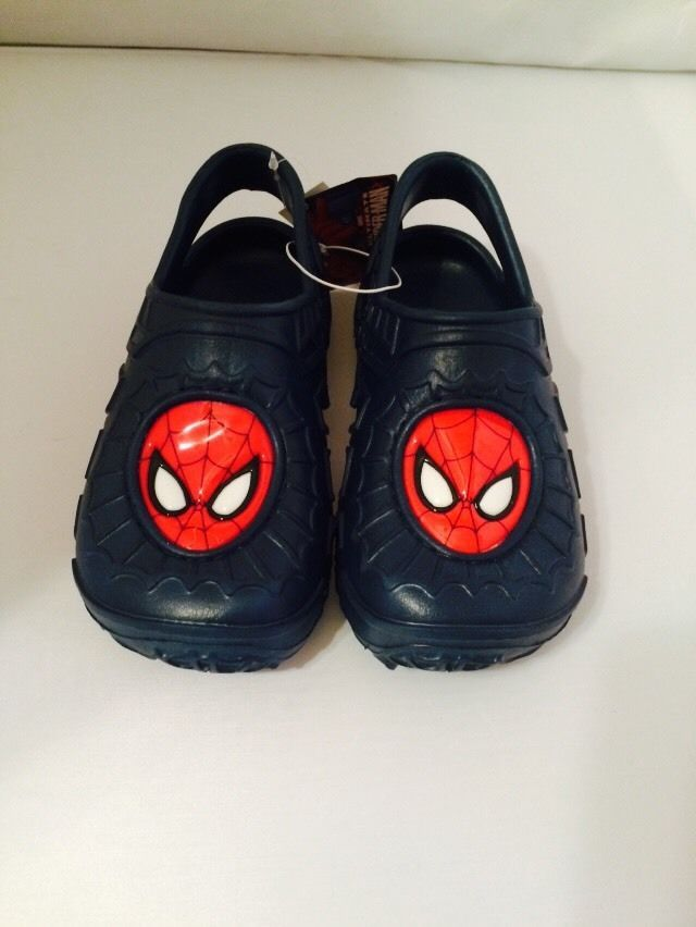 NWT Boys Shoes sz M 13-1 ULTIMATE SPIDER-MAN Molded Clogs Black, Red & White #MarvelAmazingSpiderMan #Clogs