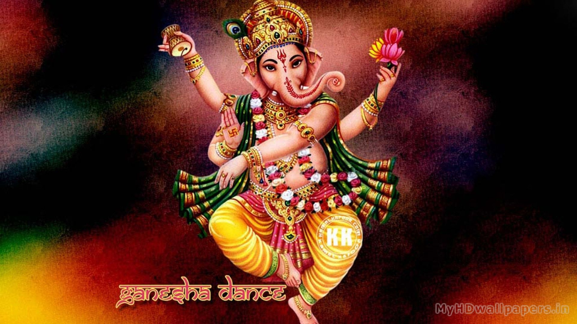 Click here to download in HD Format Dancing Ganesha Wallpapers