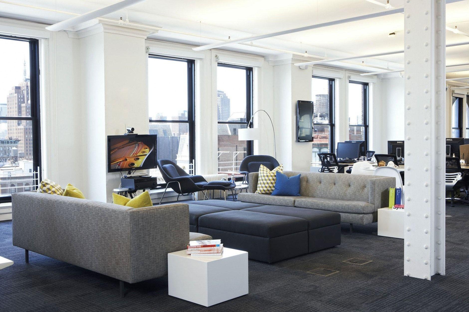 Foursquare's Soho HQ by Designer Fluff   Office furniture design, Interior  architecture design, Office design