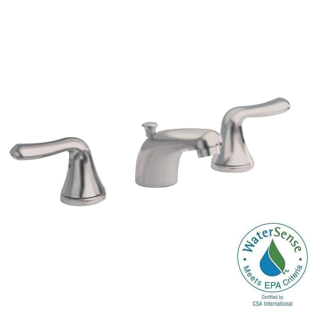 American Standard Colony Soft 8 In Widespread 2 Handle Low Arc Bathroom Faucet In Brushed Nickel 3875 501 295 Bathroom Faucets Faucet American Standard