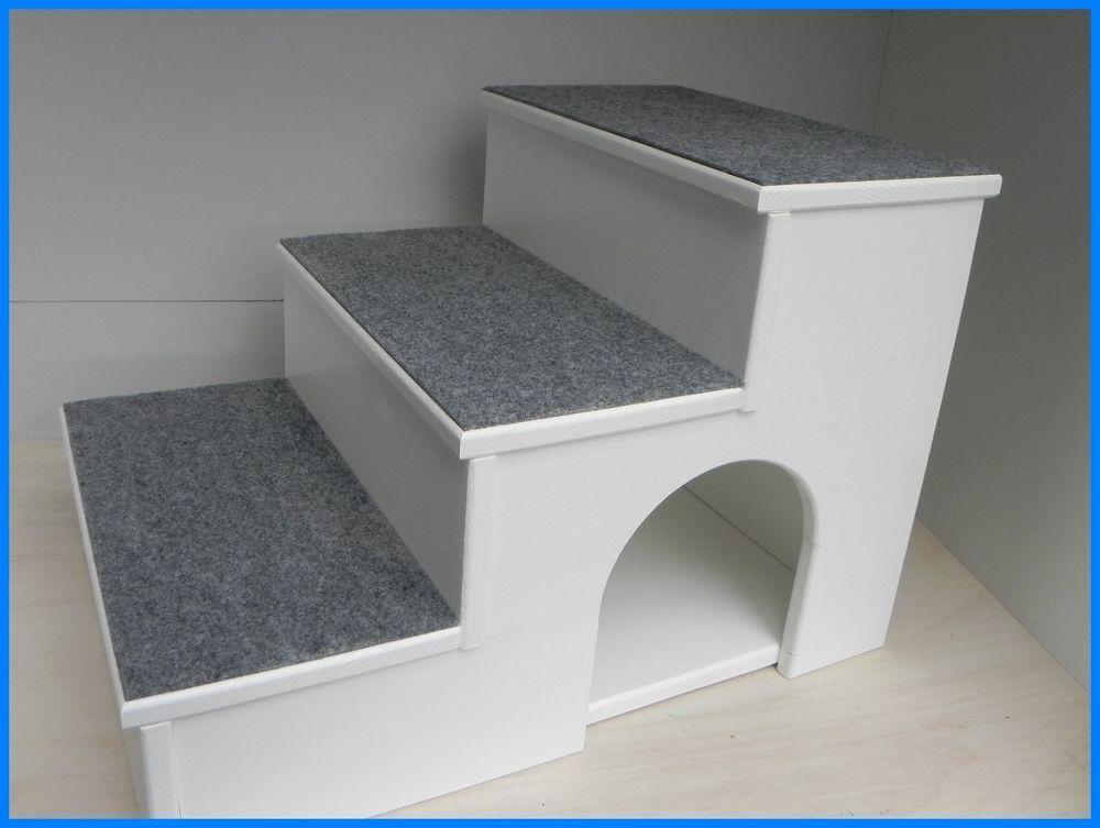 Exclusive Hunde / Katzen Treppe Höhe 60cm Mit Kuschelhöhle + Teppich In Haustierbedarf, Hunde