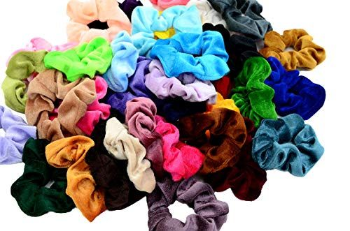 Choice of Colours Coloured Soft Jersey Hair Scrunchie Bobble Elastic