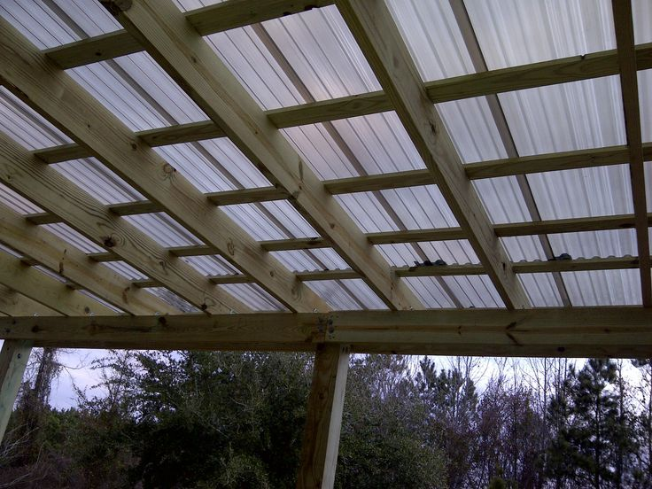 Sun Shelters With Polycarbonate Roof Attached To House