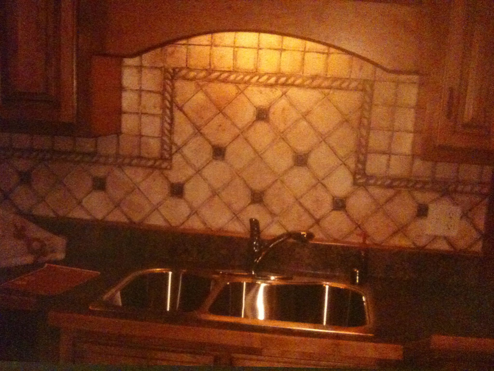 painted backsplash no grout needed house ideas