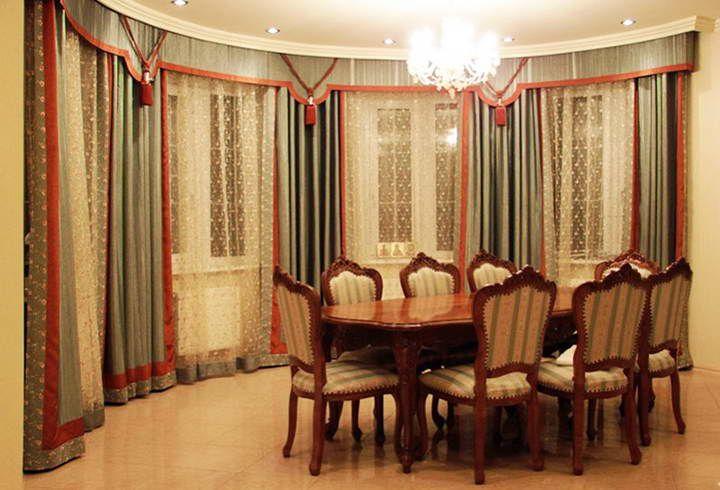 Ламбрекен бандо фото: для шторы, жесткий для зала, ажурный ...