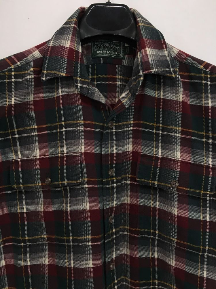 MENS LT LARGE TALL POLO COUNTRY RALPH LAUREN FLANNEL OUTDOOR SHIRT LOOKS NEW 47347d77dcff7