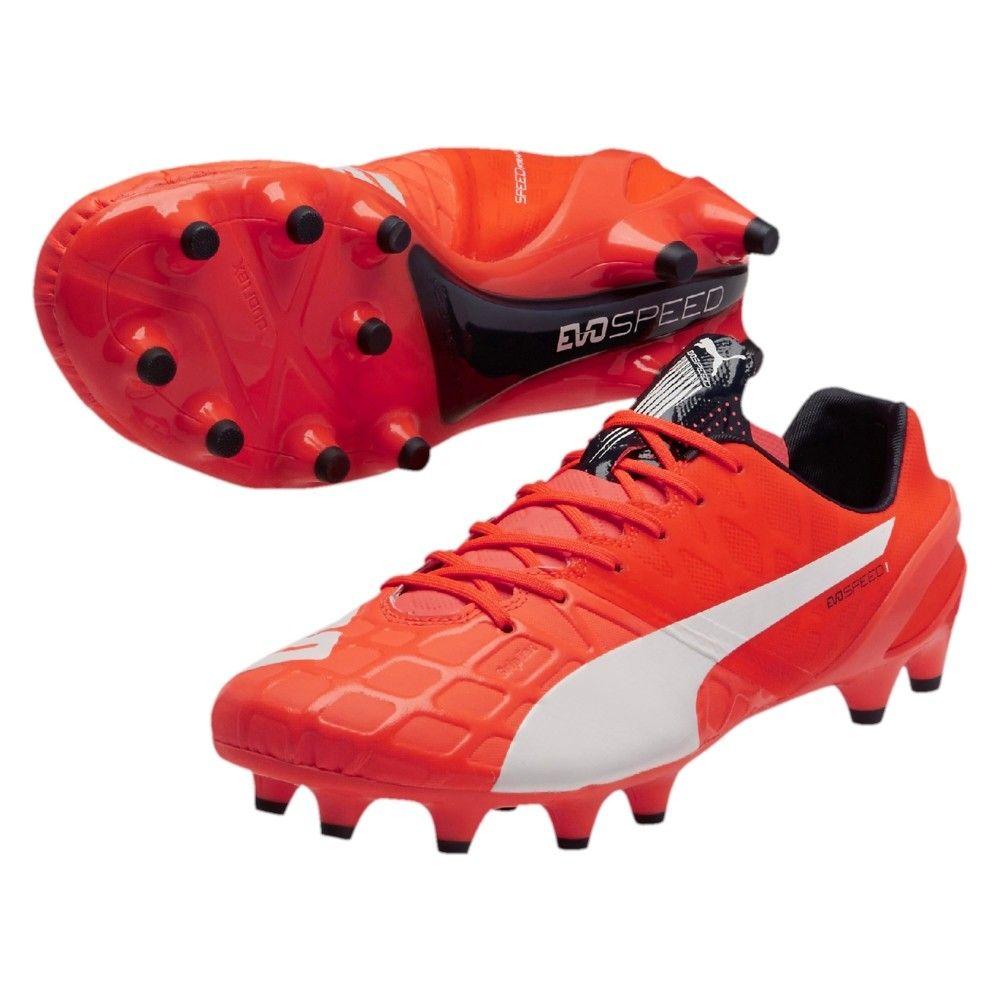 867c5a5a8878 Sale 50% Puma evoSPEED 1.4 FG Men s Soccer Cleats Lava Blast White Total  Eclipse