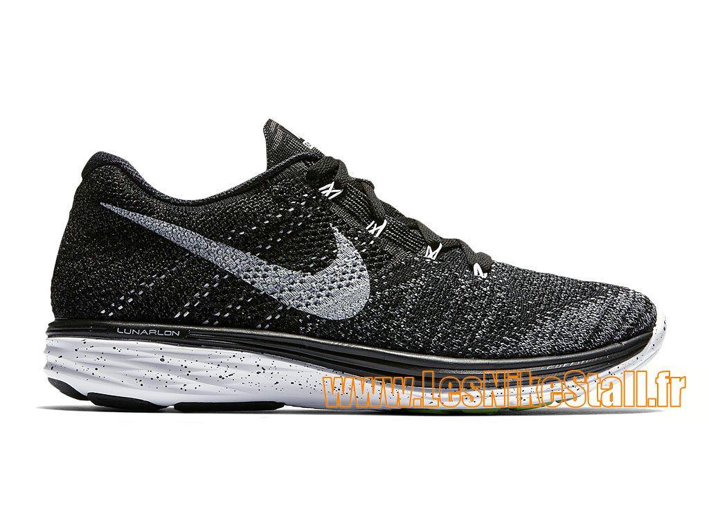 Officiel Nike Flyknit Lunar 3 GS - Chaussure de Running Pas Cher Pour Femme  Noir/