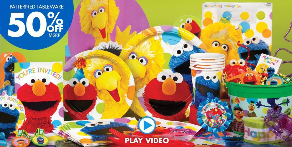 Sesame Street Party Supplies Click To Watch Video Sesame Street Party Supplies Sesame Street Party Sesame Street Birthday Party