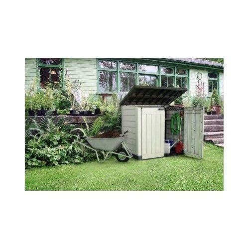 Outdoor Wheelie Bin Storage Plastic XL Garden Unit Shed Gardening ...