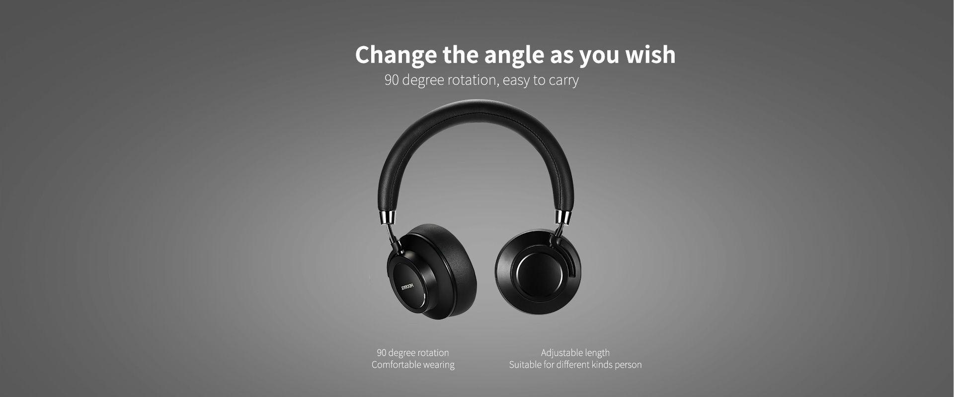 1c85bdf1d06 JOYROOM , JR-H12 bluetooth headphone 90 degree rotation easy to carry ,  long battery
