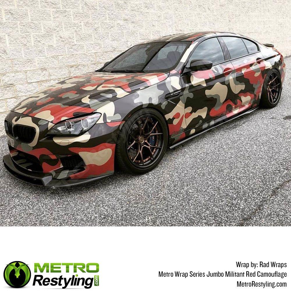 Jumbo Militant Red Camouflage Vinyl Wrap Metro Restyling Camo Car Vinyl Wrap Car Vinyl Wrap