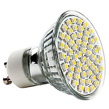 GU10 3.5W 350-400LM 2800-3200K LED-Spot med Varm Hvidt Lys (220-240V) – DKK kr. 31