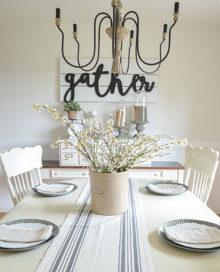 Modern Farmhouse Dining Room Neutral Decor