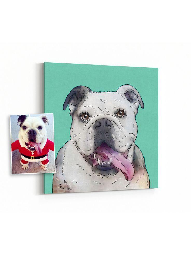 Personalized dog portrait gift, custom digital pet