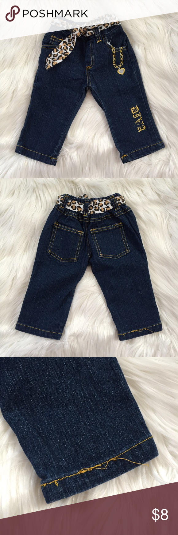 "Baby Girl ""Diva"" Jeans Adorable Jeans NWOT , say ""DIVA"" on left leg. Bottoms Jeans"