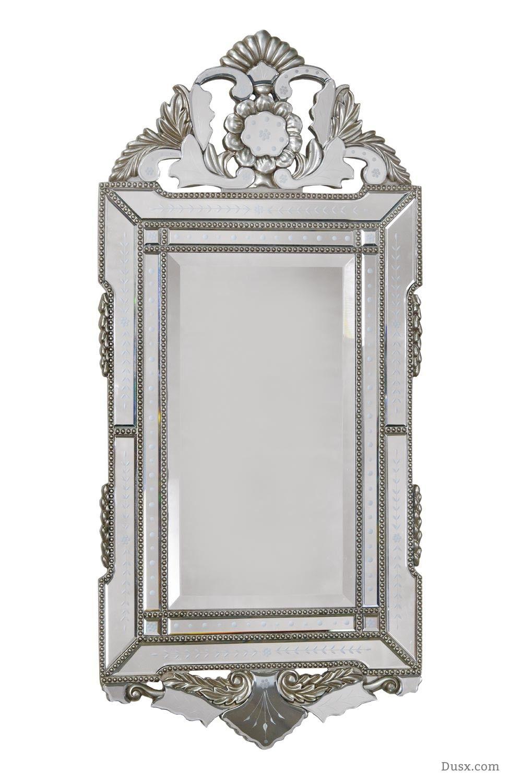 Vintage Venezia Portrait Silver Mirror  : For sale at www.DUSX.com