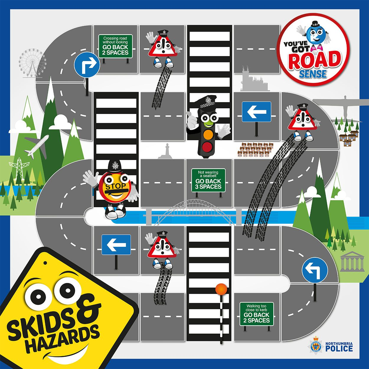 Road Safety Campaign Skids And Hazards Board