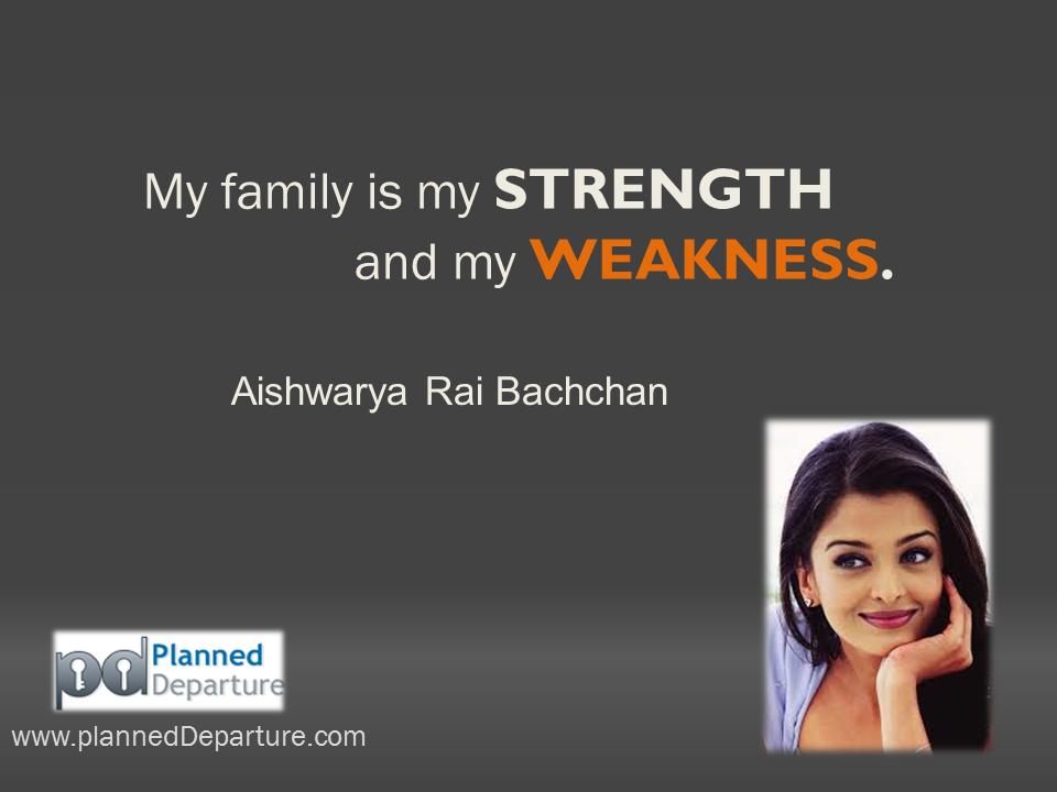 My Family Is My Strength And My Weakness Aishwarya Rai Bachchan