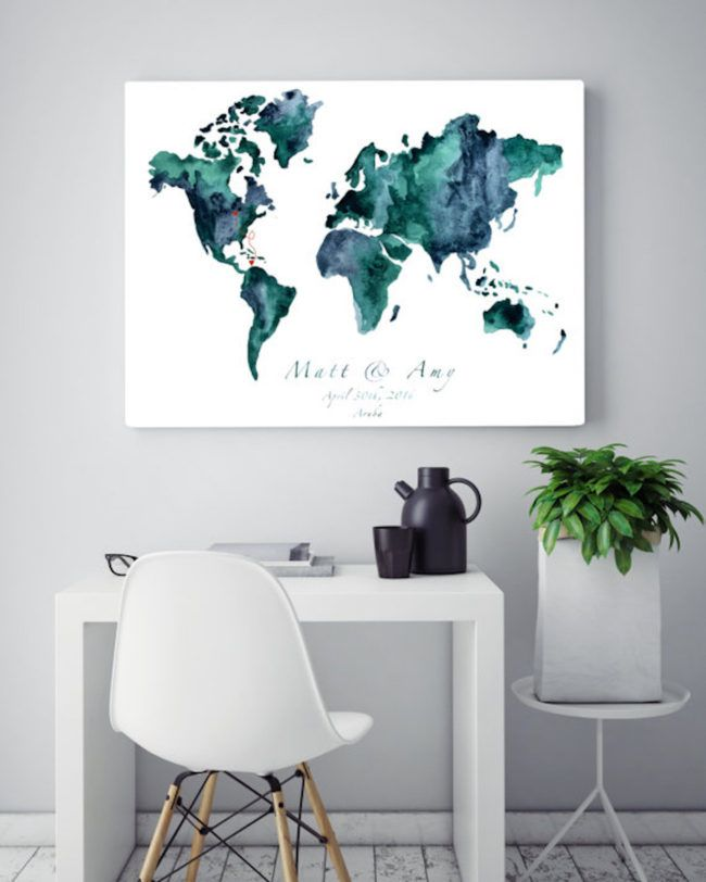 10 gorgeous wedding map guest book alternatives weddings wedding seriously adorbs wedding map guest book ideas click for even more ideas gumiabroncs Images