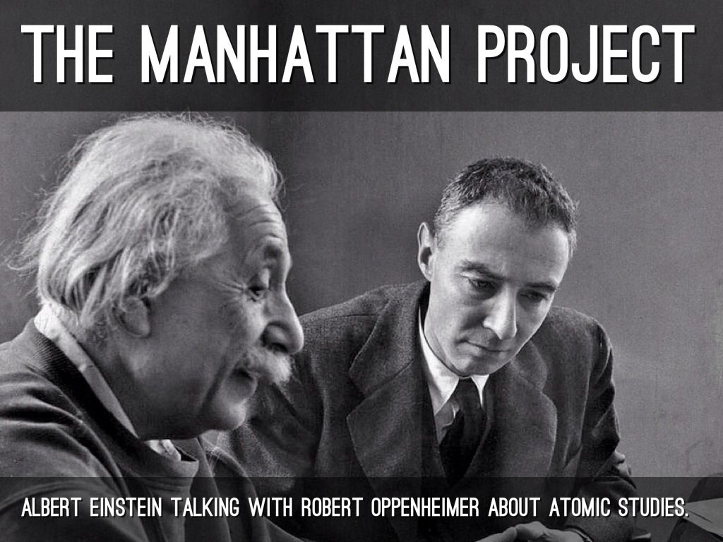 Oppenheimer Quote 3The Manhattan Projectalbert Einstein Talking With Robert