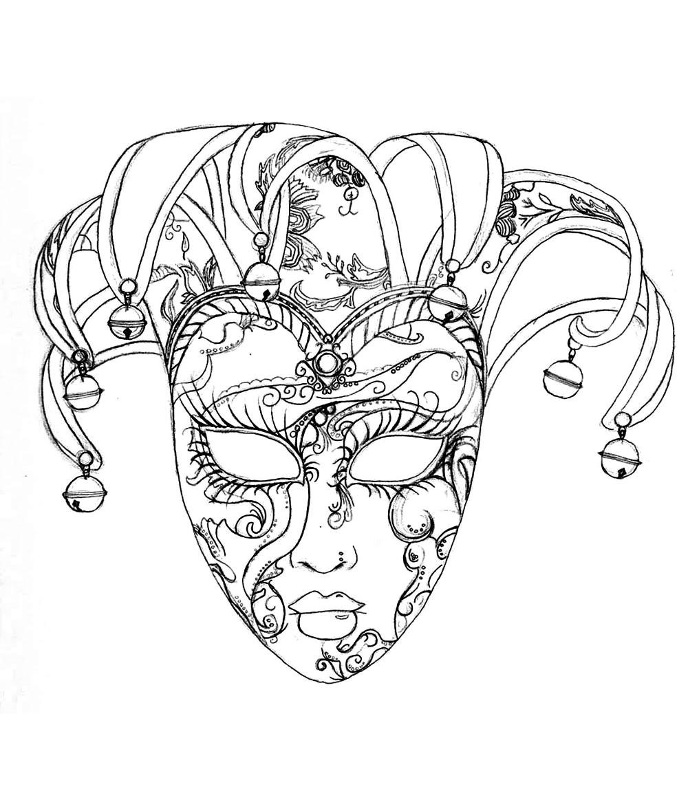 Free Mardi Gras Mask Coloring Pages, Download Free Clip Art, Free ... | 1179x1000
