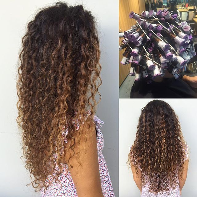 Pin Curl Perm Long Hair