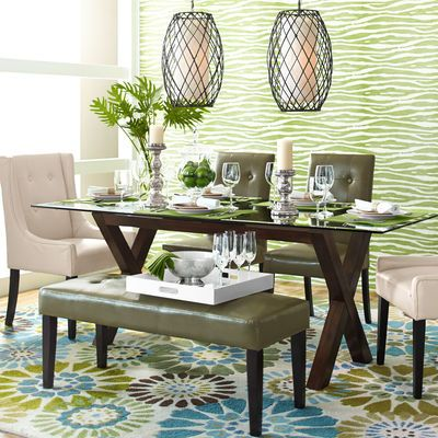 Rectangle Glass Table Top  Glass Table Top Glass Table And Druid Custom Pier One Dining Room Ideas Design Inspiration