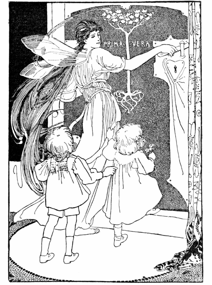 Art by Alice B. Woodward (1896) from the book TELL THE KING THE SKY IS FALLING…