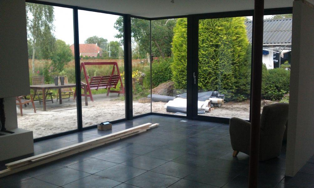 Glazen hoek 1304 verbouw uitbreiding jaren 39 30 woning pinterest - Uitbreiding huis glas ...
