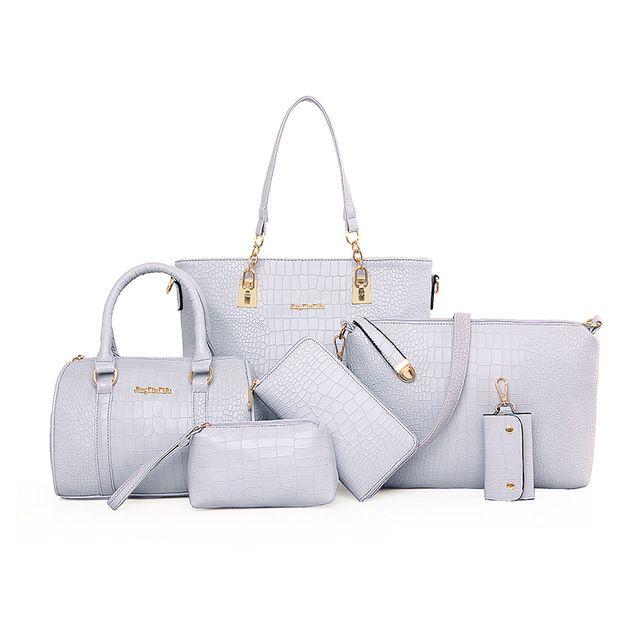 Source 6 Pieces Las Wallet Pars Hand Bags Women Set Handbags On M Alibaba