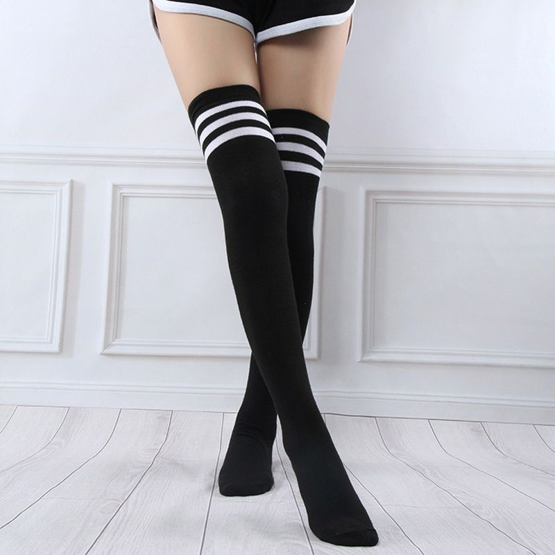 most popular buy good buy best MEILIKOU Sexy Fashion Stockings High Over Knee Striped ...