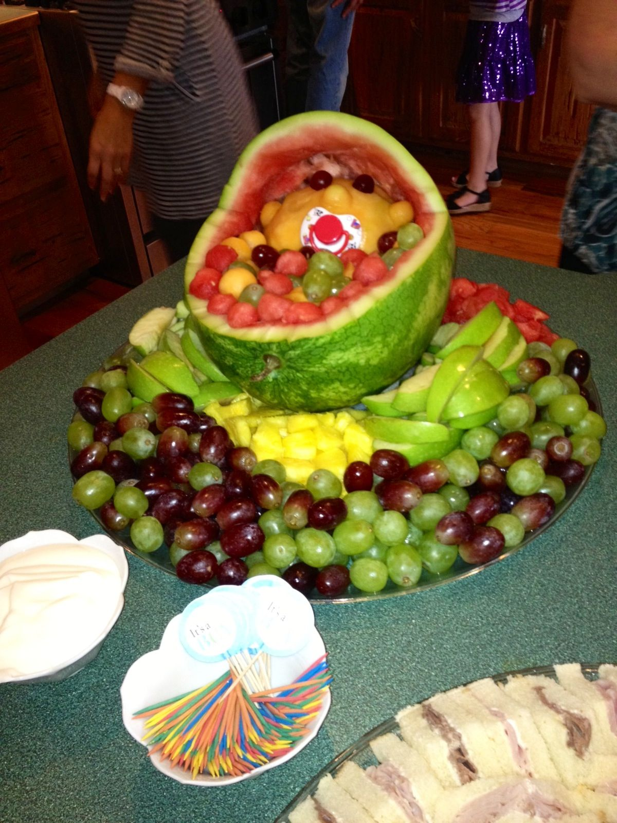 fruit tray baby shower made by lou baby ideas pinterest