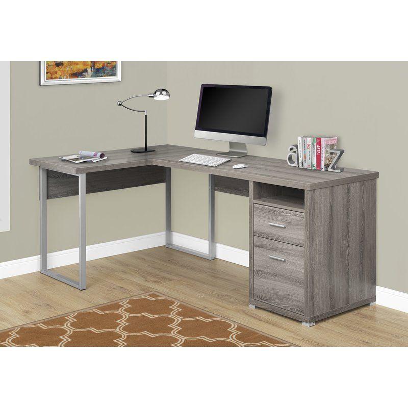 Darcio 2 Drawer L Shape Corner Desk Reviews Joss Main L