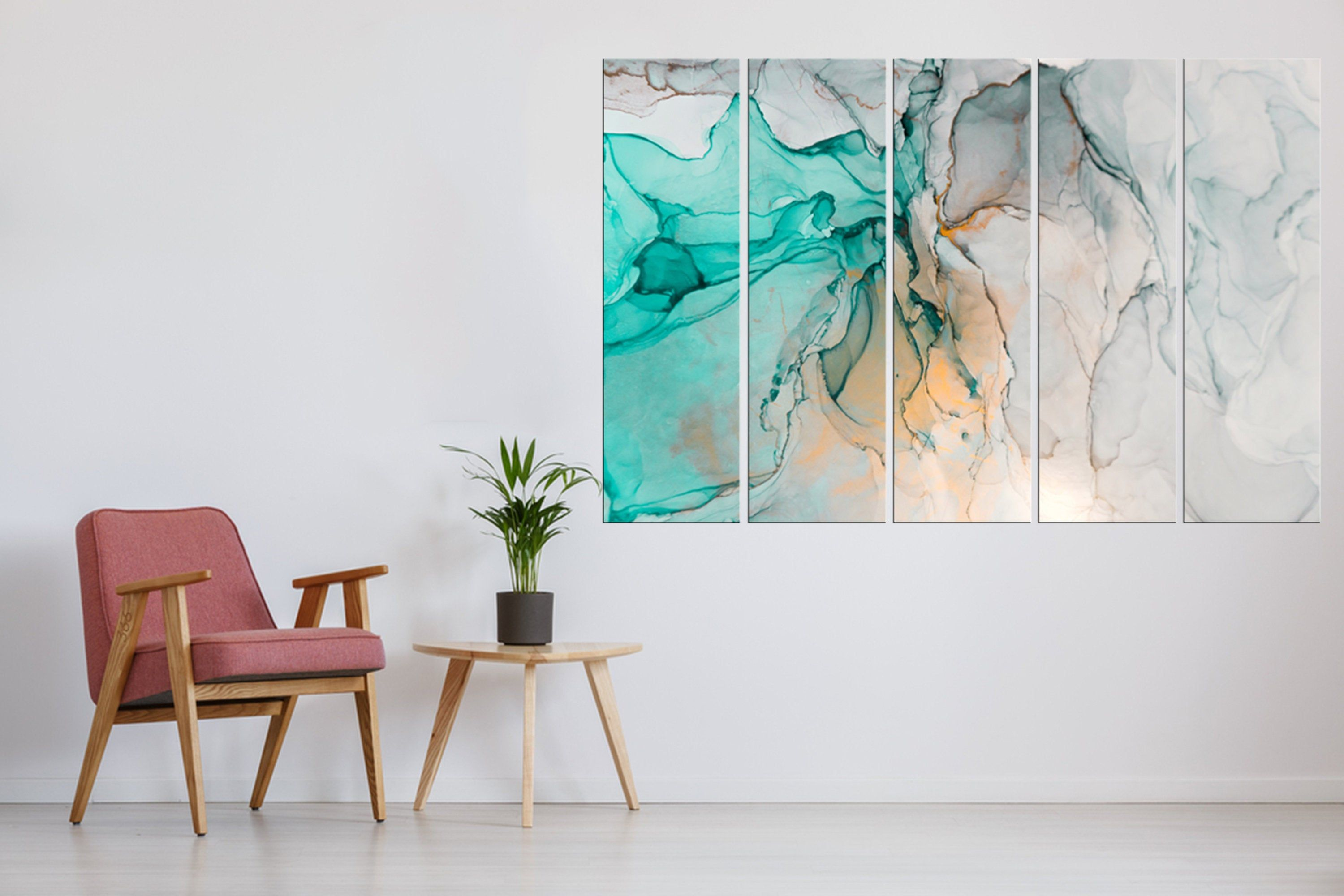 Large Marble Art Marble Canvas Print Beautiful Abstract Art Set Of 5 Modern Wall Decor Large Canvas Art Beautiful Abstract Art Marble Art Modern Wall Decor