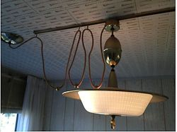 Vintage Light With Movable Ceiling Track