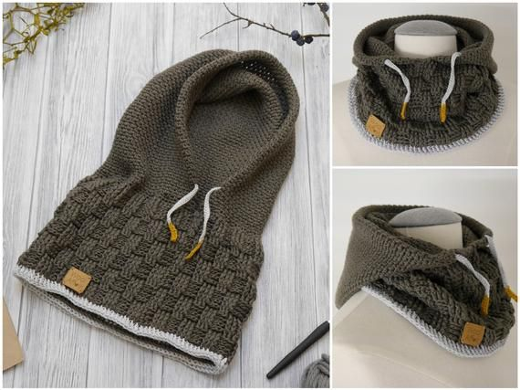 Crochet Pattern - Hooded Scarf SCOODY - No.184E #crochetformoney