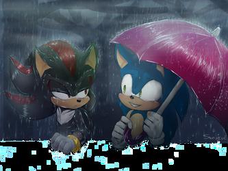 RAIN speedpaint by ShadaleTheHedgehog | Sonadow | Sonic