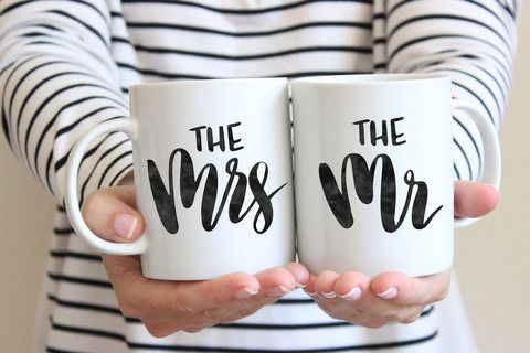 Mr. + Mrs. Mug Set