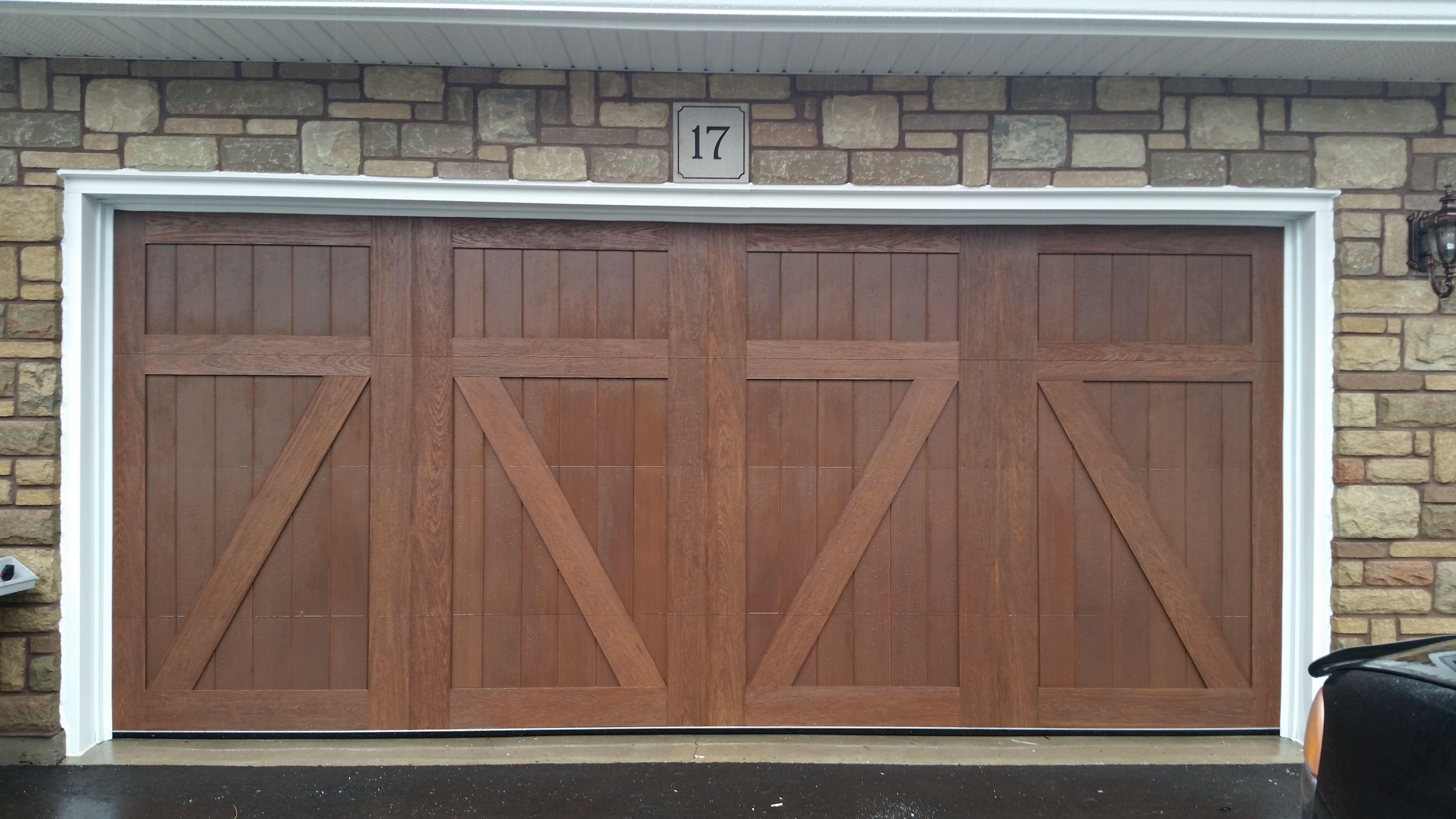 Clopay Canyon Ridge Collection Walnut Finish Q 9641 Garage Doors Outdoor Decor Faux Wood