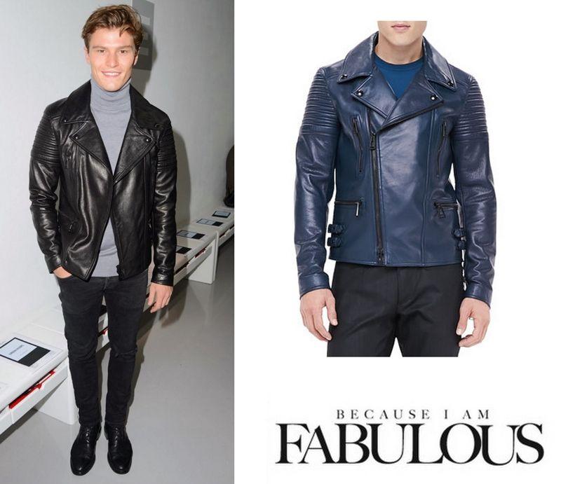 Mens leather biker jacket london