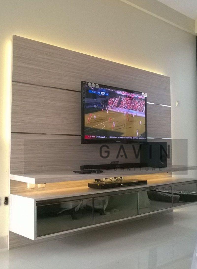 Backdrop tv di green andara lebak bulus kitchen set for Kitchen set hpl
