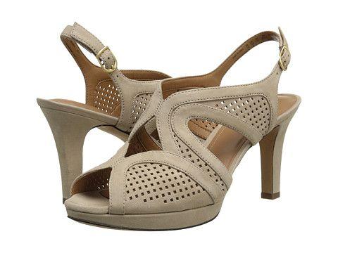 Womens Sandals Clarks Delsie Grace Light Tan Nubuck