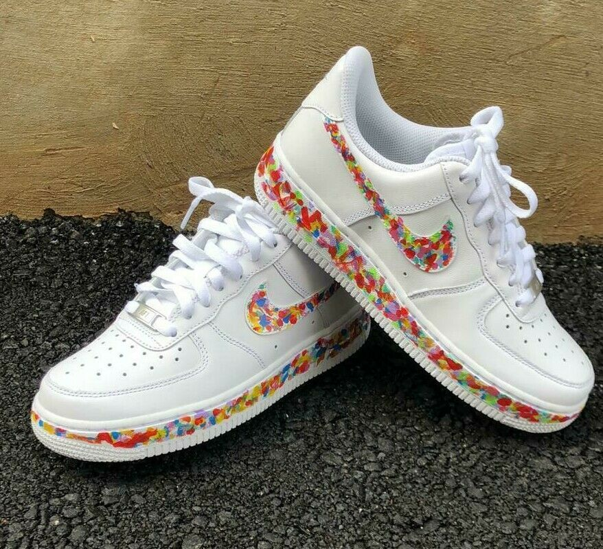 4ca8d505f4929 Nike Air Force 1 women's shoes dotted painted Custom designed ...